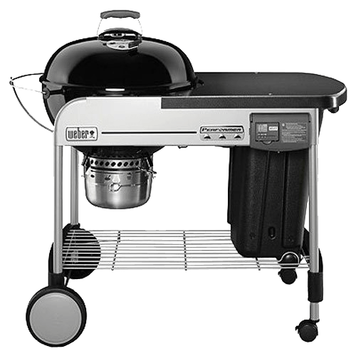 Weber 15501001 Performer Deluxe Charcoal Grill, 22-Inch, Black
