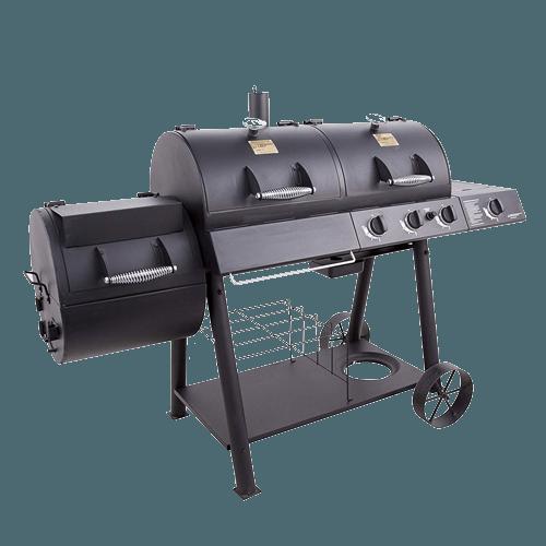 Oklahoma Joe's Charcol LP Gas Smoker Combo